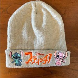 DISNEY Lilo and Stitch Gray Beanie Winter Hat